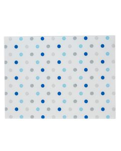 Padstow Clear Blue Glass Polka Dot Chopping Cutting Board