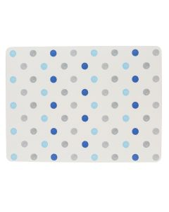 4 x Padstow Blue Cream Polka Dot Placemats