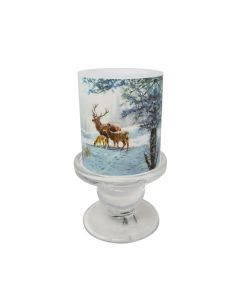 Christmas Deer Family Candle & Candlestick