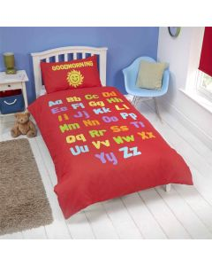 Bedtime Learning Children's Single Bedding Set