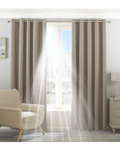 Eclipse Blackout Natural Eyelet Fully Lined Curtains