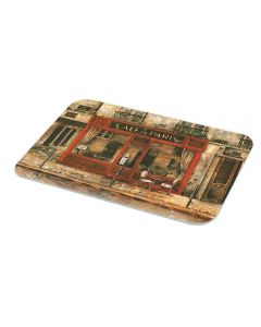 Café De Paris Kitchen Glass Chopping Cutting Board