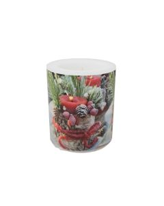 Christmas Candles Florals Wax Candle Large