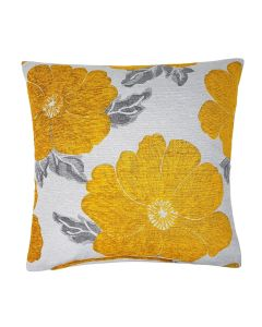 "Poppy Ochre Gold Cushion Cover 18"" - 45cm"