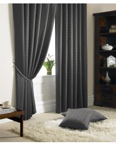 Madison Charcoal Pencil Pleat Curtains Fully Lined