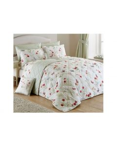 Country Journal Bedspread Red Green Blue Cream 230 x 220cm