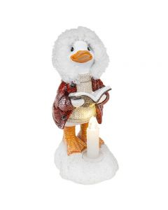 Christmas Decoration Acrylic Yuletide Duck with Led Candle