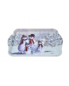 Snowman Family with Hats Snack Serving Tray