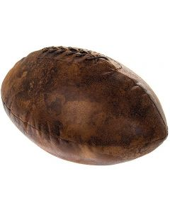 Antique Look Faux Leather Rugby Ball Doorstop