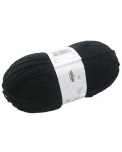 100g Ball of Double Knit Wool Black