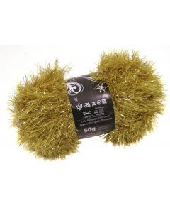 50g Ball of Tinsel Chunky Gold Wool