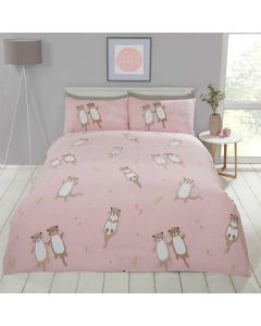 Otterly Amazing Coral Duvet Cover Set