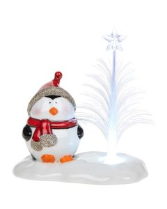 Boxed Cheery LED Penguin Optic Tree Decoration