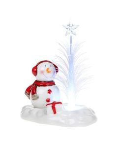Boxed Cheery LED Snowman Optic Tree Decoration