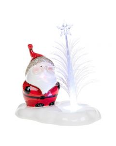 Boxed Cheery LED Santa Claus Optic Tree Decoration