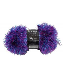 50g Ball of Tinsel Chunky Wool in Sparkler