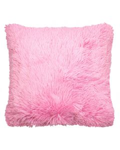 Candy Pink Faux Fur Cushion Cover 18""