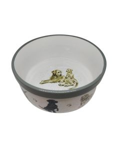 Dogs Wrendale 20cm Porcelain Pet Food Bowl