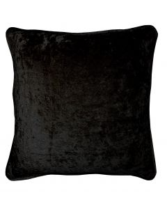 Crushed Velvet Black Cushion