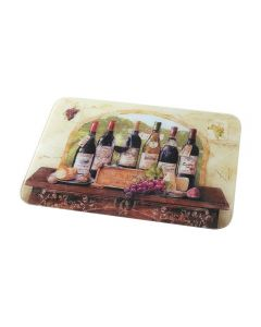 Wine Cheese Glass Food Chopping Cutting Board