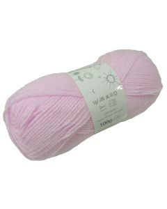 100g Ball of Big Value Baby Double Knit Wool in Pastel Pink