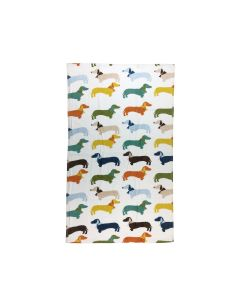 Multi Sausage Dog Bath Towel