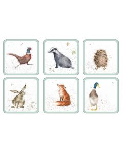 Wrendale Country Animals Set of 6 Coasters