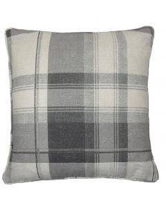 Balmoral Check Grey Cotton Cushion