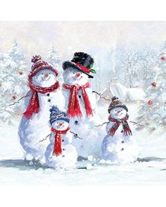 Christmas Snowman Family Napkins Serviettes