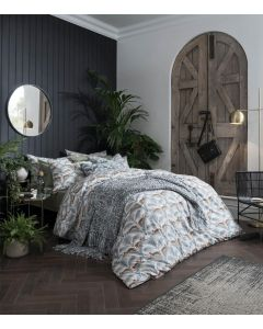 Fat Face Lounging Leopards Fern Green Bedding