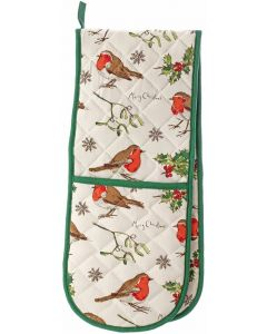 Christmas Madeleine Floyd Robins Holly Double Oven Gloves & tea towel