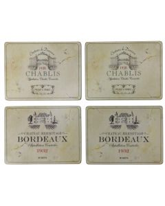 Vin De France Set of 4 Large Placemats