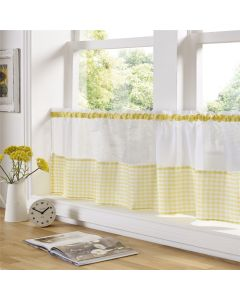 Gingham Yellow Cafe Panel