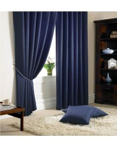 Madison Navy Pencil Pleat Curtains Fully Lined