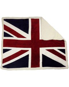 Union Jack Red White Blue Flag Throw Blanket