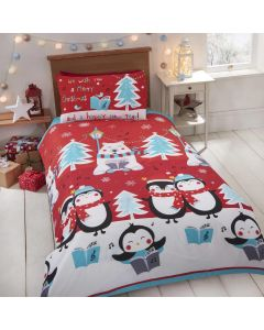 Christmas Singalong Penguin/Polar Bear Single Duvet