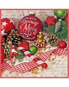 Merry Little Christmas Baubles Napkins