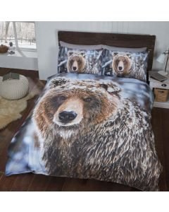 Brown Bear King Duvet