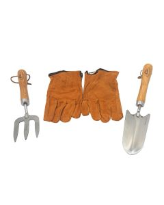 Boxed Small Garden Set (Gloves, Trowel, Fork)