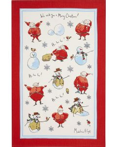 Christmas MF Santa Snowman Tea Towel