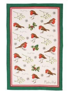 Christmas Madeleine Floyd Robins & Holly Tea Towel