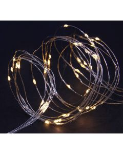 Christmas Solar 50 Warm White LED Copper Wire Multi Function Lights Garland
