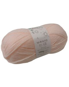 100g Ball of Big Value Baby Double Knit Wool in Peach
