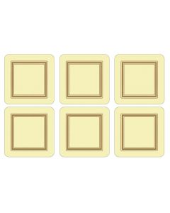 Cream Classic Set of 6 Coasters