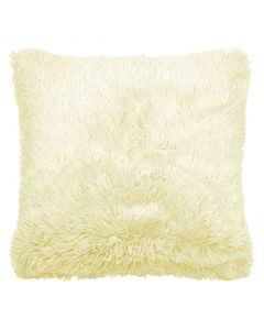 Cream Faux Fur Cushion Cover 18""