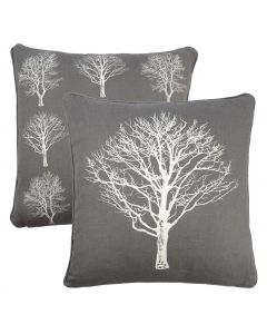 Woodland Trees Charcoal Grey Cushion