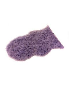 "Faux Fur Rug Purple 60 x 90cm - 23"" x 35"""