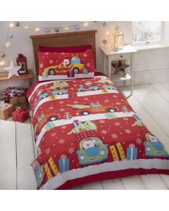Christmas Delivery Santa Elves Single Duvet