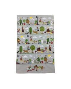 Walkies Cotton Tea Towel