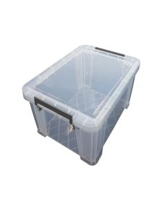 10L STORAGE BOX LIDDED CONTAINER CLEAR
